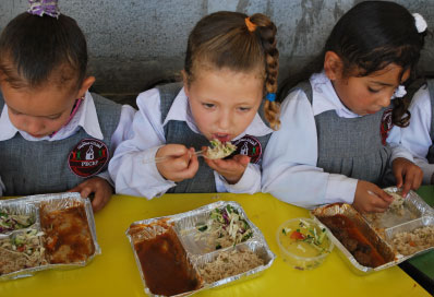 Nutritous lunhc meals in Gaza